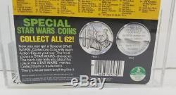 Vintage Kenner Star Wars Potf 92 Back R2-d2 With Pop Up Lightsaber Afa 60