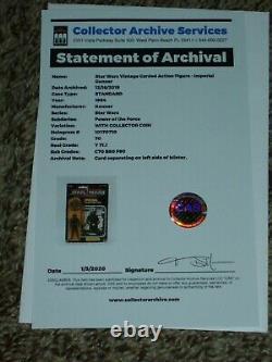 Vintage Star Wars 1985 CAS/AFA 70/80/90 IMPERIAL GUNNER POTF 92 Card Back MOC
