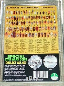 Vintage Star Wars 1985 KENNER AFA 80 R2-D2 POP-UP LIGHTSABER POTF Card Back MOC