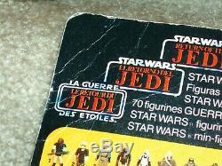 Vintage Star Wars 1985 R2-D2 POP-UP LIGHTSABER TRI-LOGO Card Back MOC AFA IT CLB