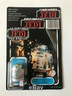 Vintage Star Wars Last 17 Tri Logo R2-D2 Popup Lightsaber CLIPPER MOC Unpunched