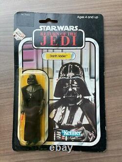 Vintage Star Wars ROTJ Darth Vader 1983 77A Carded MOC Unopened