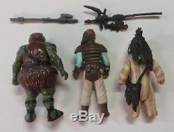 Vintage Star Wars figures weapons lot LAST 17 POTF R2 D2 POP UP LIGHTSABER SABER