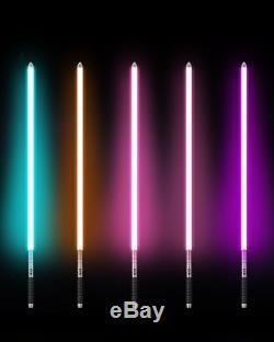 Y2 Star Wars Lightsaber Combat Training Light saber Silver Metal Hilt 11 Colours