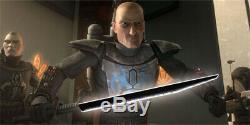 YDD Star Wars Darksaber Mandalorian Jedi Tarre Vizsla Lightsaber Metal Silver