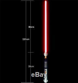 YDD Star Wars Lightsaber Luke Skywalker Replica Silver Metal 16 Colors RGB Light