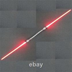 YDD Star Wars Replica Lightsaber Darth Maul Cosplay Silver Metal Red Light Prop