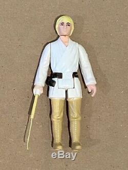 1977 Wars Vintage Étoile Luke Skywalker Farmboy Double Dt Lightsaber M Telescoping