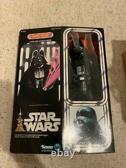 1978 Darth Vader Star Wars Vintage 12 De Grande Taille Action Figure Mib W Acrylique