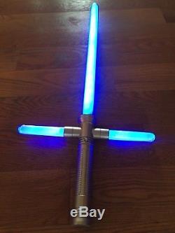 Blue Lightsaber Nouveau Comme Dans Star Wars Cross Guard Light Up Led Épée Avec Son