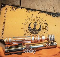 Dans Hand Skywalker Legacy Lightsaber Set Leia Organa Hilt & Reforged Skywalker