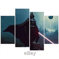 Darth Vader Light Saber Star Wars Film Encadré 4 Piece Mur Art Toile Peinture