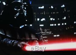 David Prowse Dark Vador Signé Star Wars 16x20 Photo Sabre Photo- Jsa Auth C-s