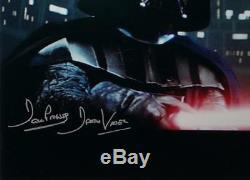 David Prowse Dark Vador Signé Star Wars 16x20 Photo Sabre Photo- Jsa Auth L-s