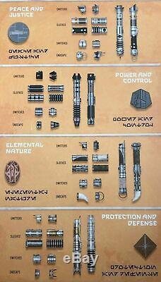 Disney Parks Custom Edge Galaxy Savi Atelier Lightsaber Hilt Choisir La Conception