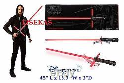 Disney Store Star Wars Sabre Laser Kylo Ren Force Fx DLX Feu Rouge Saber 2015 Nouveau