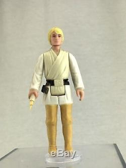 Figurine D'action Star Wars Luke Skywalker Vintage Avec Sabre Laser À Double Télescope