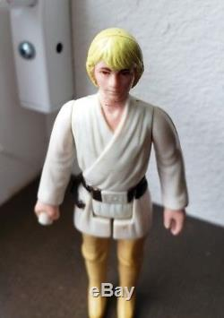 Figurine Star Wars Vintage Luke Skywalker Farmboy Dt Double Sabre Laser Télescopique