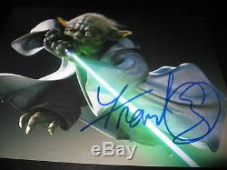 Frank Oz Autographe Signé 11 X 14 Photo Yodi Star Wars Light Sabre Rare Coa Auto D
