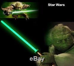 Hasbro Star Wars Yoda Ultime Fx Lightsaber Toy Green Light Sabre Laser Épée