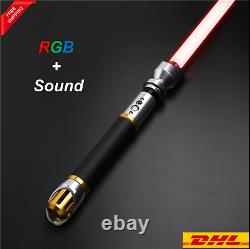 Hot Star Wars X-lotus Lightsaber Metal 12 Couleurs Rgb Light Replica Swing Lisse