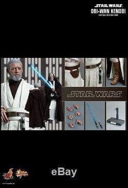 Hot Toys Mms 283 Star Wars New Hope Obi-wan Kenobi Alec Guinness Figure Nouveau