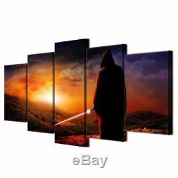 Imprimé De Peintures Murales Star Wars, Impression De Panneaux De Toile Sunset Sabre De Lumière Montagnes
