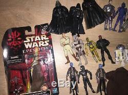 Les Grandes Star Wars Lot 3.75 Beaucoup De Fusils Accessoires Lumière Sabres