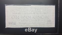 Maître Répliques Star Wars Aotc Obi-wan Kenobi Sabre Laser 11 Sw-103 Artiste Preuve