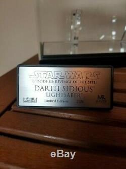 Master Replicas Darth Sidious Garde Sabre Laser / Star Wars Palpatine