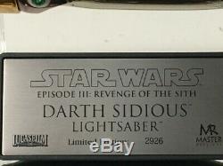 Master Replicas Darth Sidious Light Saber Limitées Wars Rots Sw Édition Étoiles-132