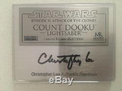 Master Replicas Dooku 11 Lightsaber Sw105d Star Wars Limitée Avec Signature