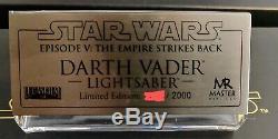 Master Replicas Star Wars Darth Vader Lightsaber Esb Lmtd Edtn Sw-117 11 Échelle