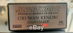 Master Replicas Star Wars Obi-wan Rots Lightsaber 11 Échelle Sw-130 Limitée Edtn