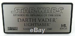 Master Replicas Star Wars Rots Darth Vader 11 Lightsaber Limitée # 1340/3000