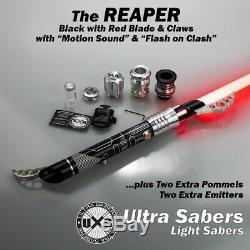 Modèle Ultrasaber Lightsaber Noir Reaper Ultra-set Red Blade, Double Griffes, Extras