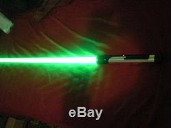Nouveau Sabre Laser De Fantaisie Menaçant De La Menace Tpm Fantomatique De Ginn Avec Le Bruit Sain
