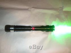 Nouveau Sabre Laser Personnalisé Avec Menace De Son Fantôme Rare Qui Gon Jinn Green Tpm Avec Son Fx