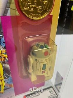 Pop Vintage Kenner Star Wars Droides 1985 R2-d2 Jusqu'à 85 Afa Canadienne Lightsaber