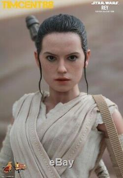 Prêt! Hot Toys Mms336 Star Wars Ep VII La Force Awakens 1/6 Rey Daisy Ridley