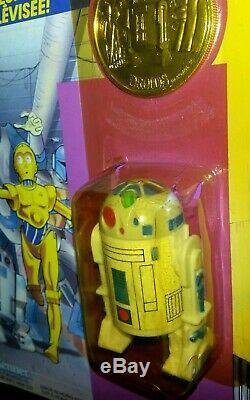 R2-d2 Pop-up Sabre Droides Bande Dessinée Vintage Star Wars Kenner 1985 Bilingue
