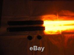 Rare Darth Maul Style Orange Double Sabre Laser Staff Nouveau Dueling Fx Ultrasabers