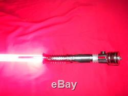Rare New Red Count Dooku Saberforge Lightsaber Sound Fx, Flash À Lame Amovible