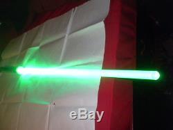 Rare Qui Gon Jinn Vert Tpm Menace Fantôme Sabre Laser Son Fx + Flash + Av