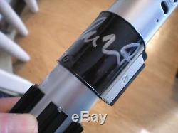 Rare Sabre Léger & Emballage Star Wars Signé Adam Driver -'kylo Ren 'last Jedi