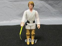 Rare Star Wars Luke Skywalker 1977 Cheveux Brun Foncé Farm Boy Kenner Figurine