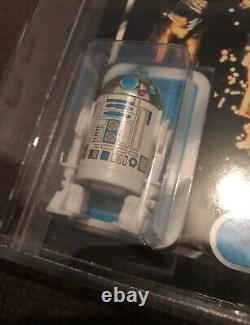 Rare Unpunched Moc Palitoy Tri-logo Star Wars R2d2 Pop-up Light Saber Graded