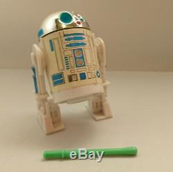 Rare Vintage Star Wars Les 17 Derniers Pop-up Sabre Laser R2d2 100% Original