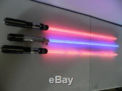 Répliques De Maîtres Star Wars Jedi Sabre Léger Lot De 3 Rouge Bleu