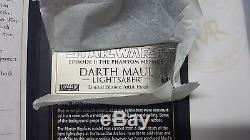 Répliques Maître Star Wars Tpm Darth Maul Lightsaber 11 Preuve D'artiste Sw-108 Nouveau